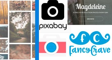 Logos de bancos de imágenes gratuitas