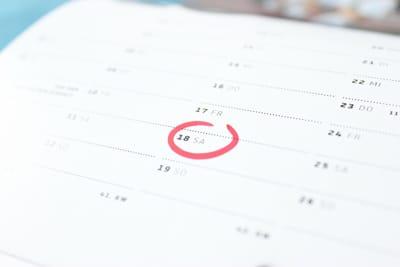 Calendario con fecha marcada