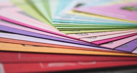 Carpetas personalizadas de colores